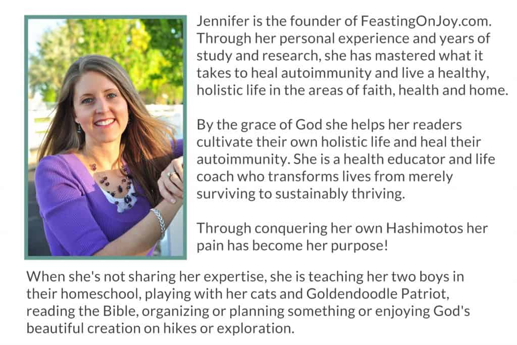 Jennifer at Feasting on Joy