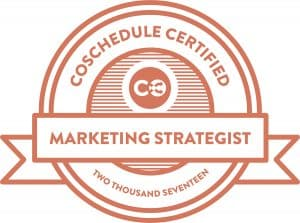CoSchedule Certified Marketing Strategist
