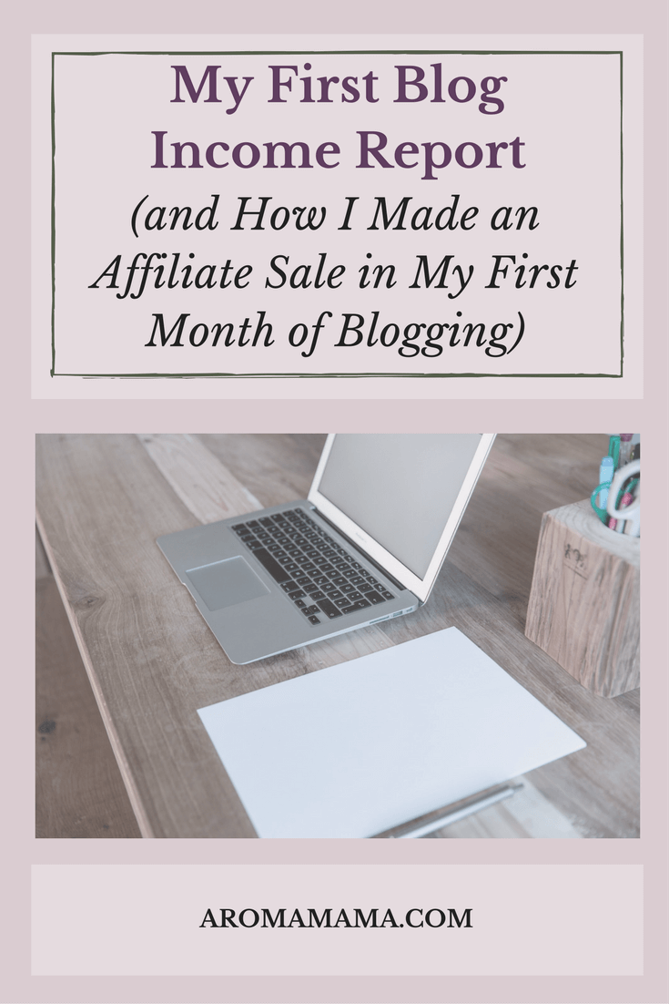 This is my first blog income report for my first month of blogging. I share all the details of how I learned how to make affiliate sales.