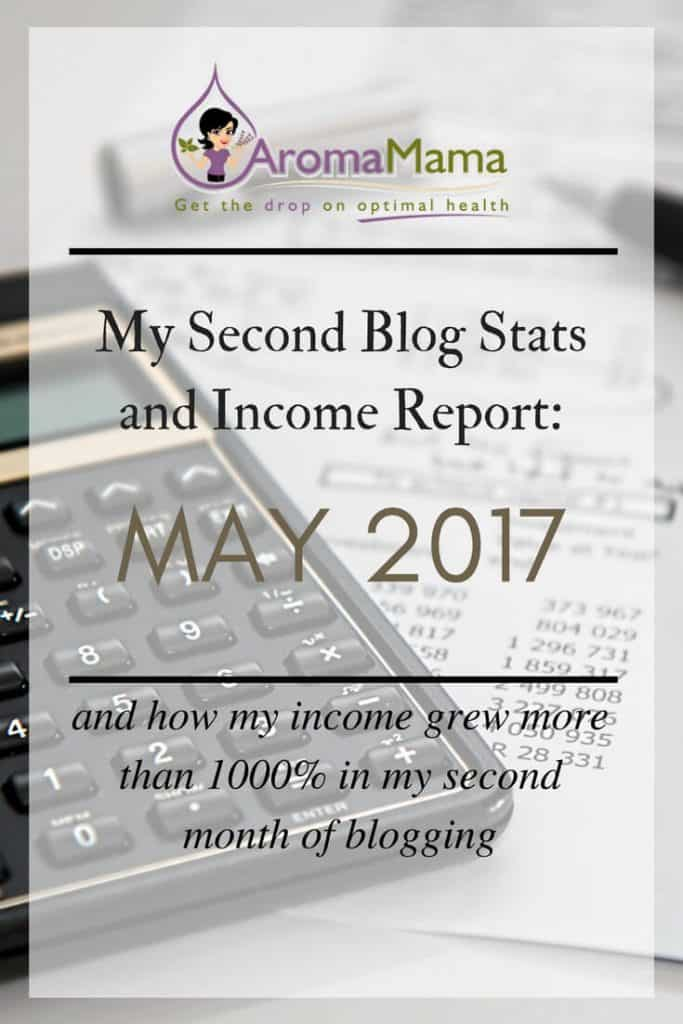 My Second Blog Stats and Income Report: May 2017