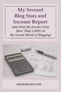 My Second Blog Stats and Income Report