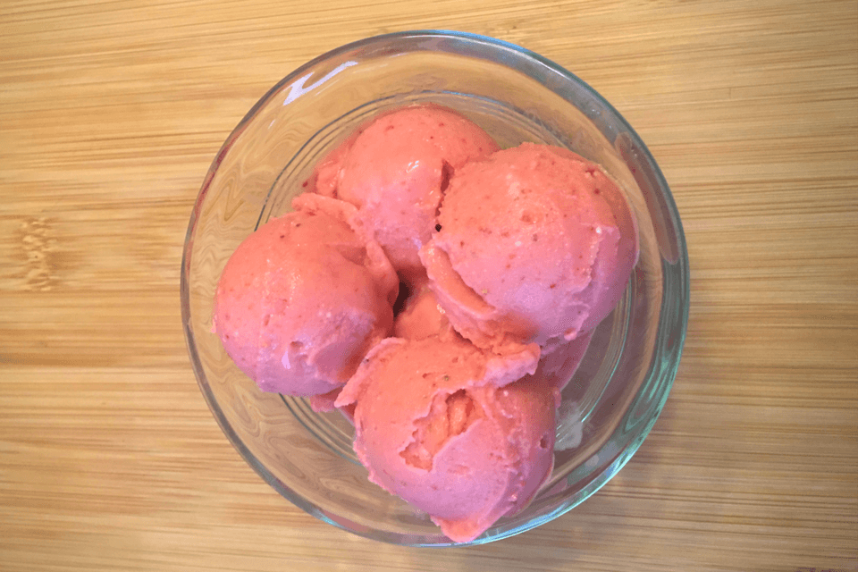 Paleo Strawberry Sorbet