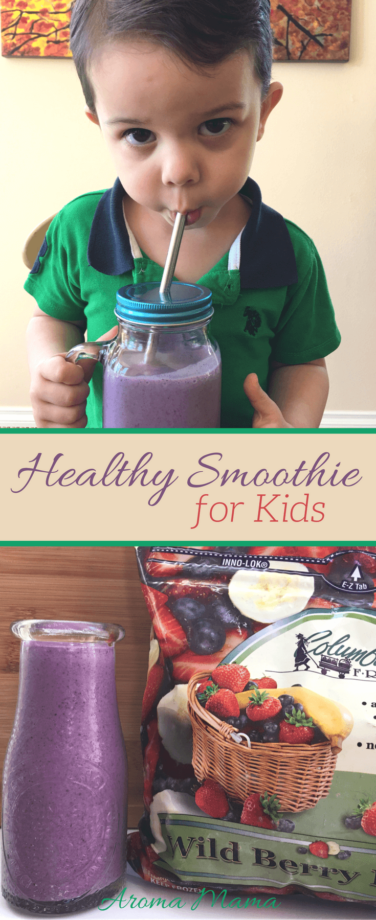 Looking for a healthy smoothie for your kids? This smoothie recipe is delicious, healthy, and kid-approved!