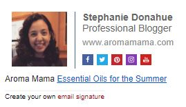 Email Signature for Aroma Mama