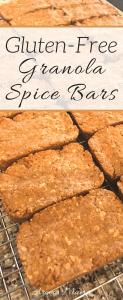 Easy to Make Gluten-Free Granola Spice Bars