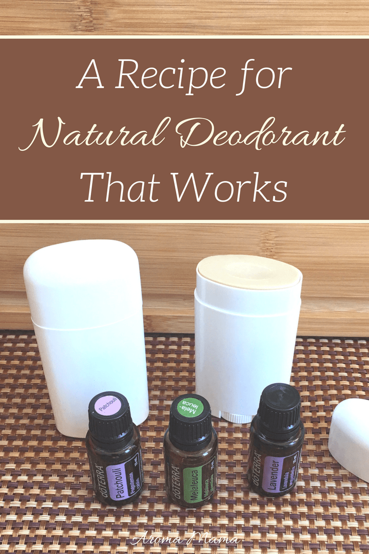 I'm so excited to share a natural deodorant recipe that works! The ingredients are all natural and even uses essential oils!