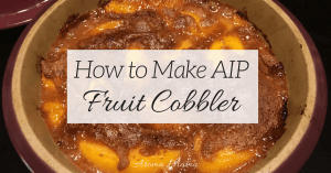AIP Fruit Cobbler