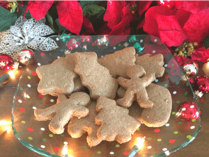 AIP Christmas Cut-Out Cookies on a platter