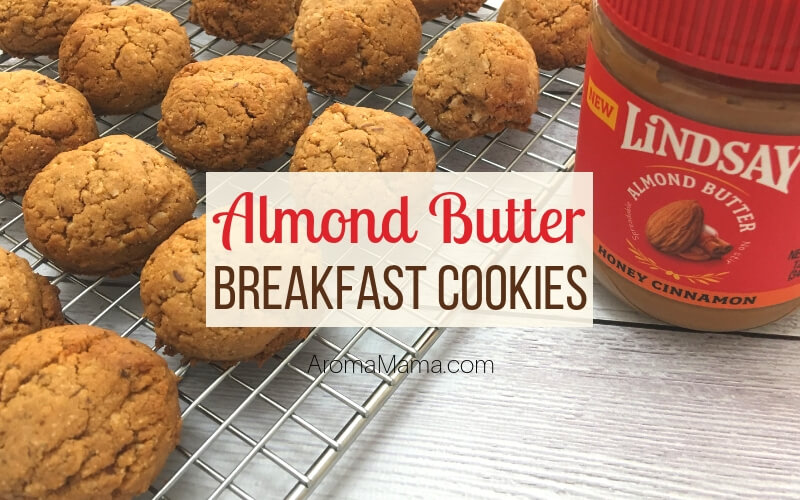 Cookies made from Lindsay Honey Cinnamon Almond Butter