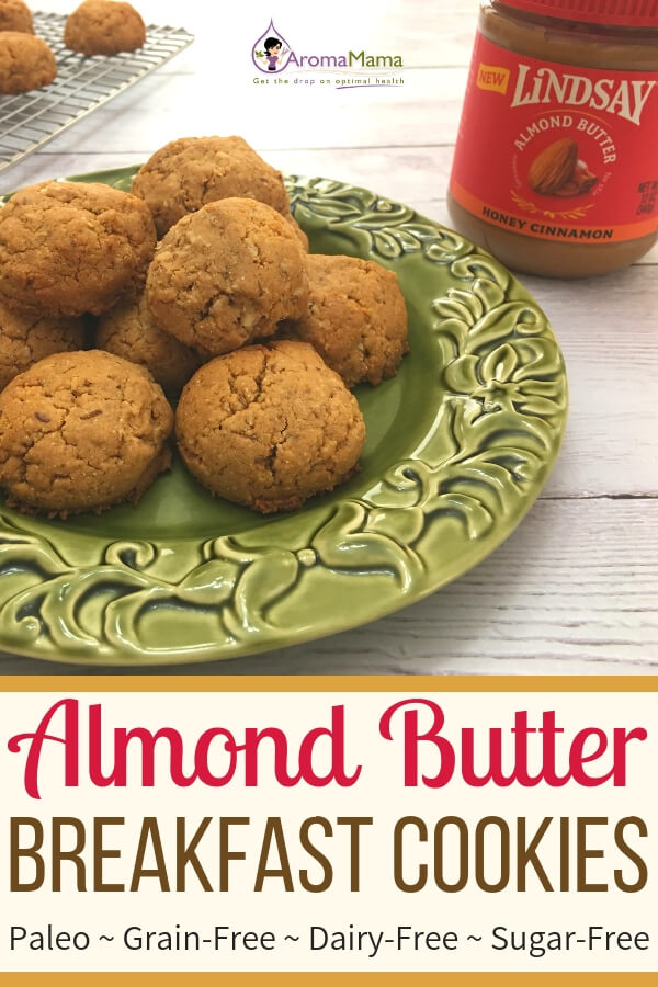Almond butter cookies made with Lindsay Honey Cinnamon Almond Butter