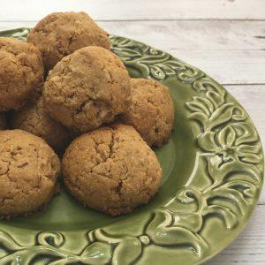 Almond Butter Breakfast Cookies on a plate