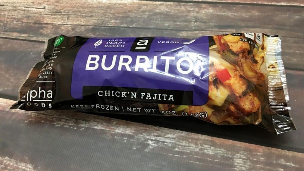 Alpha Burrito Chick'n Fajita