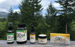CBD oil in a capsule, drops, and salve