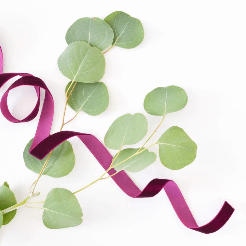 Greenery with Purple Ribbon