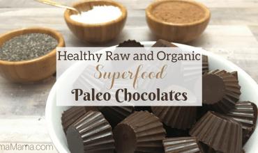 Healthy Raw and Organic Superfood Paleo Chocolates