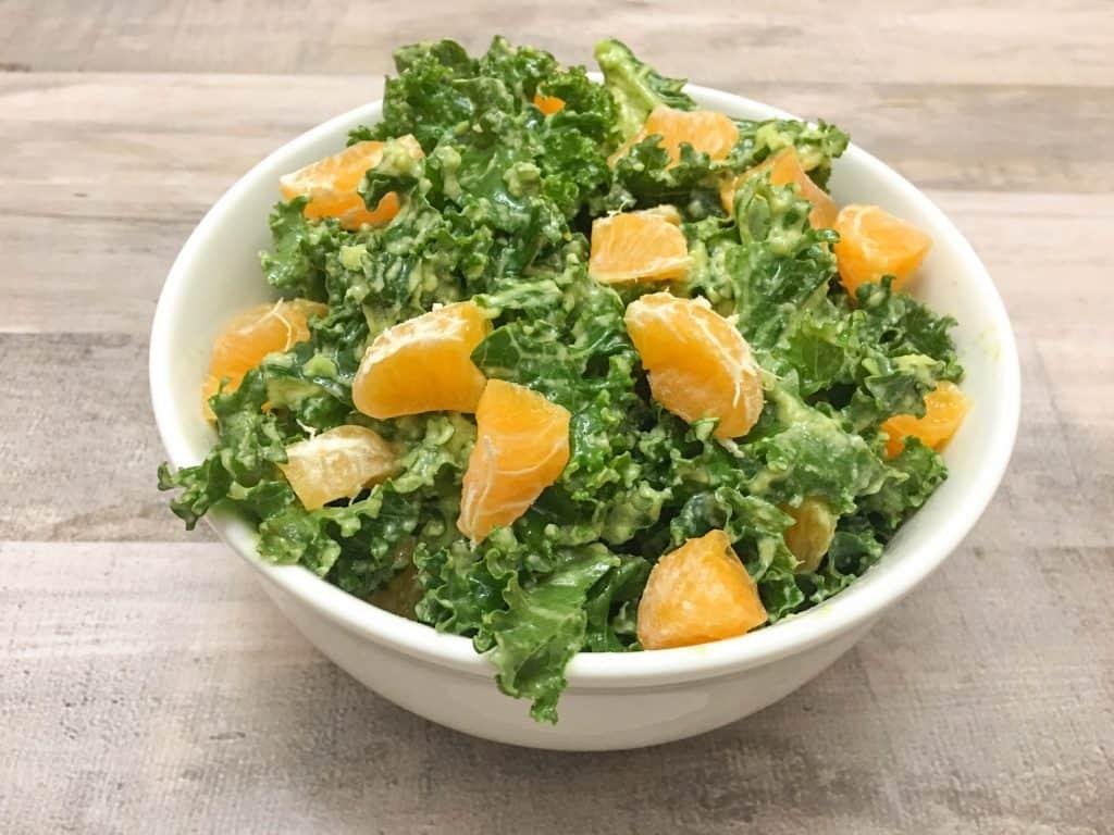 Easy Raw Kale Salad
