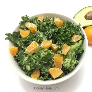 Kale Salad with Avocado Dressing