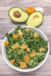Easy Raw Kale Salad with Avocado Dressing