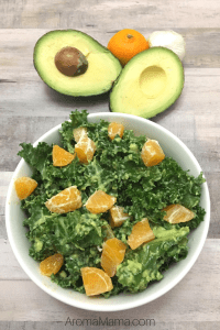 Easy Kale Salad with Avocado Dressing