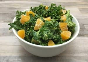 Easy Raw Kale Salad in a Bowl