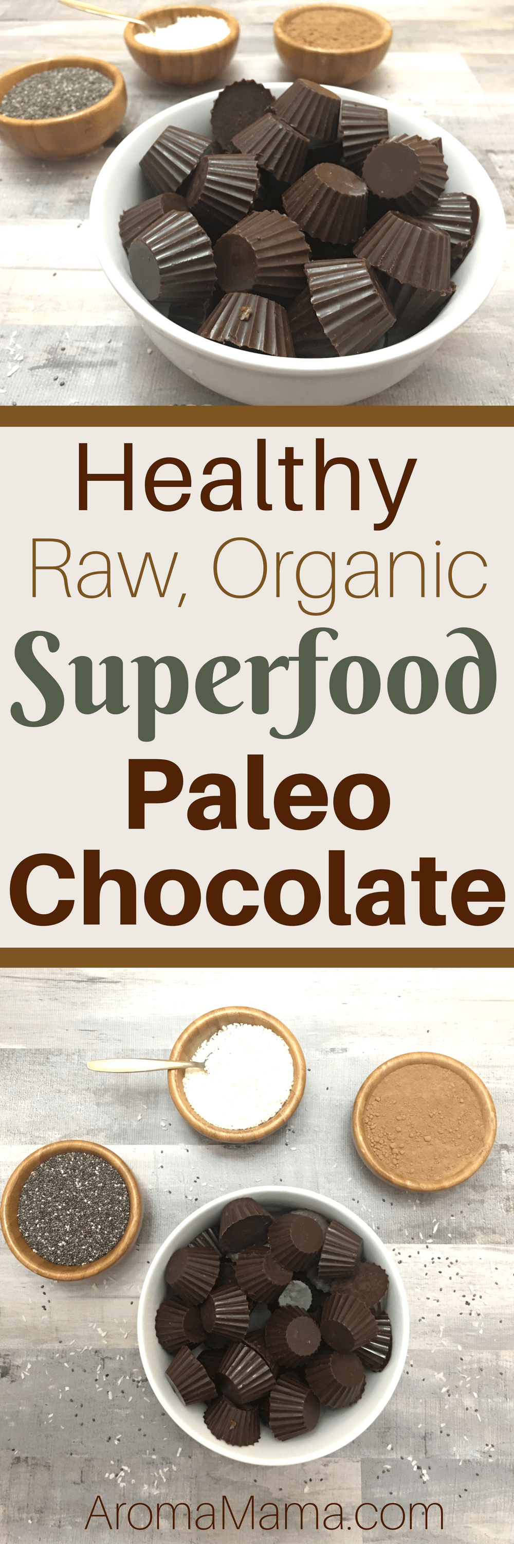 These Superfood Paleo Chocolates are healthier than a snack bar, but taste like a dessert! They are healthy, raw, and organic!