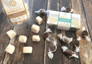 Sweet Apricity Vanilla Marshmallows and Sea Salt Caramels